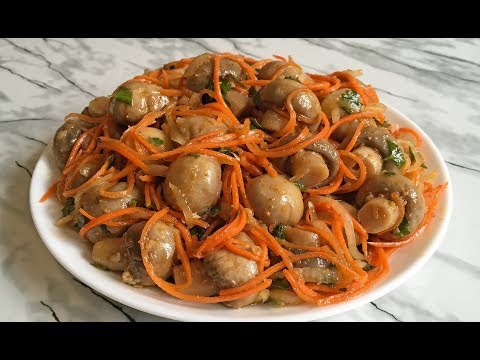 Грибы По-Корейски Шикарная Закуска!!! / Маринованные Шампиньоны / Korean Mushrooms