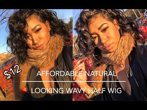 Afforadable Natural Looking Wavy Half Wig