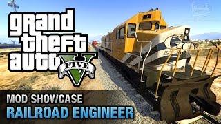 GTA 5 PC - Railroad Engineer [Mod Showcase]