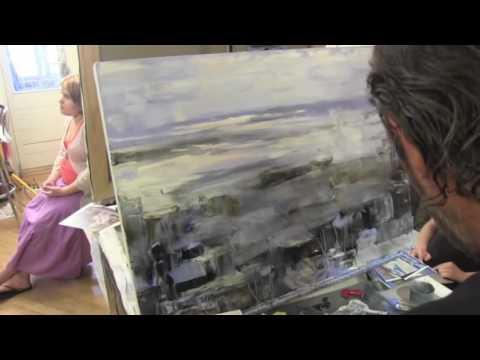 Русский город , масляная живопись, уроки в Москве и Питере