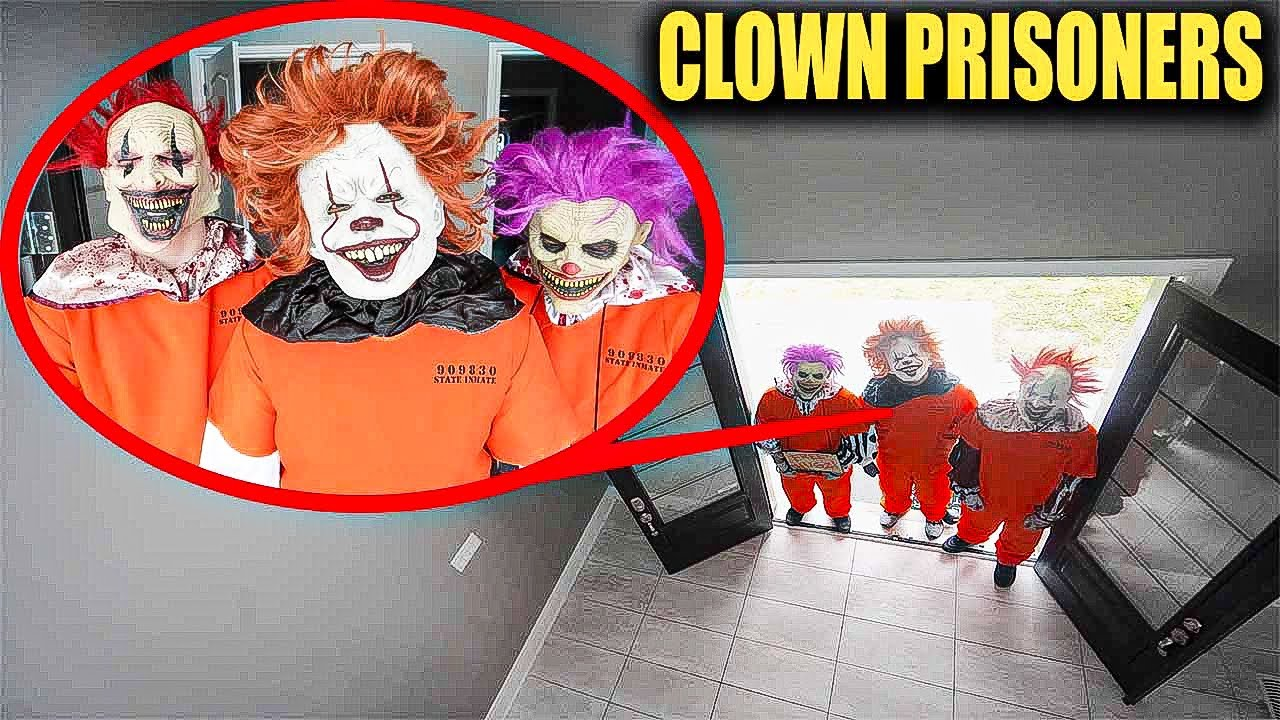 CLOWN ARMY SENT CRAZY CLOWN PRISONERS TO INVADE OUR HOUSE! (WE MADE A DEAL WITH THE CLOWNS)