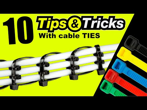 10 BEST Tips & TRICKS with a sample CABLE TIES