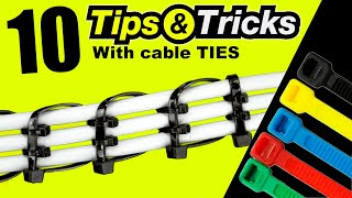10 BEST Tips  TRICKS with a sample CABLE TIES