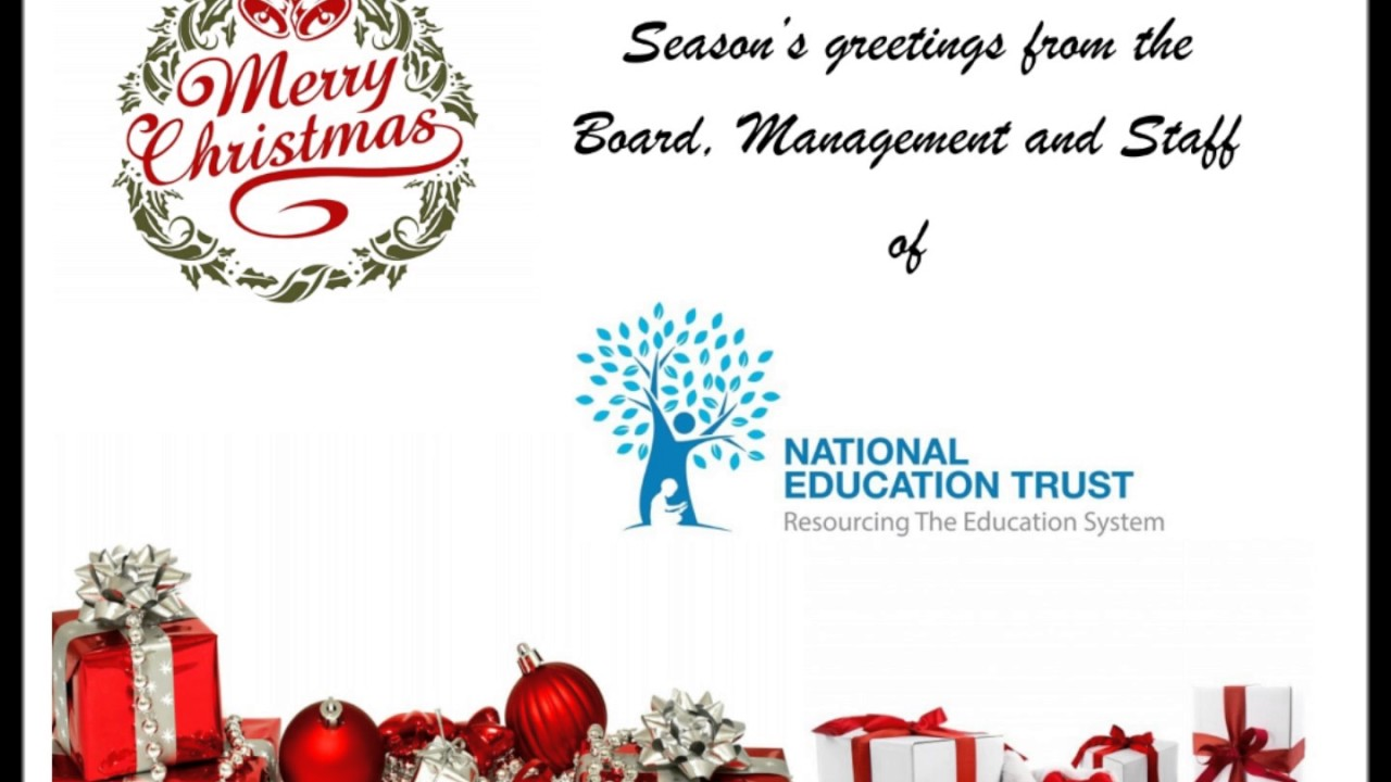 Seasons Greetings From The Board Management And Staff Of The