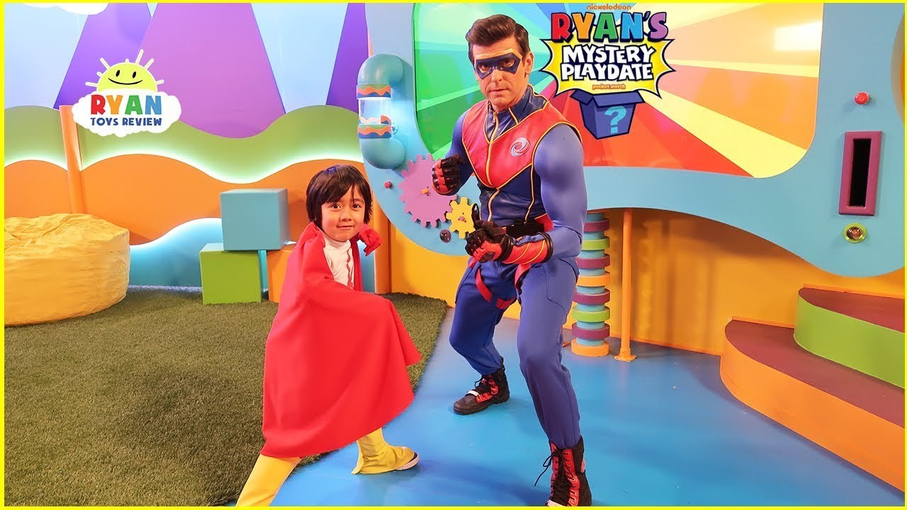 Ryans Mystery Playdate Episode with Captain Man from Henry Danger! Most Favorite Superhero!!!