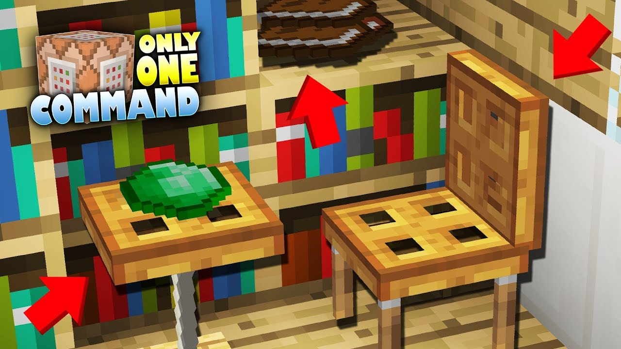 Working Minecraft Furniture Only One Command Youtube