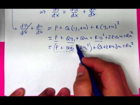 2.6 Bernoulli, Ricatti, Clairaut Equations