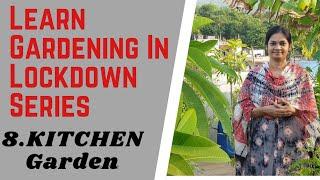 8.Kitchen Garden  #Learn Gardening In Lockdown Series/కూరగాయలు పెంచుదాం#madgardener #VegetableGarden