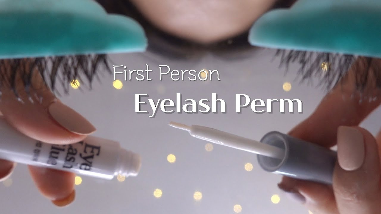 ASMR Realistic First Person Eyelash Perm RP W/ Layered Sounds (No Talking)