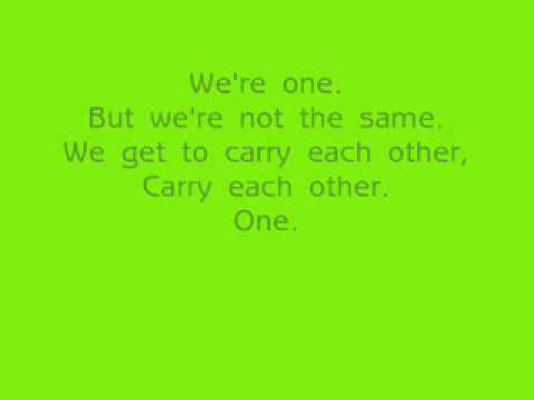 U2 - One - Live At MSG 10-01 (WITH LYRICS)