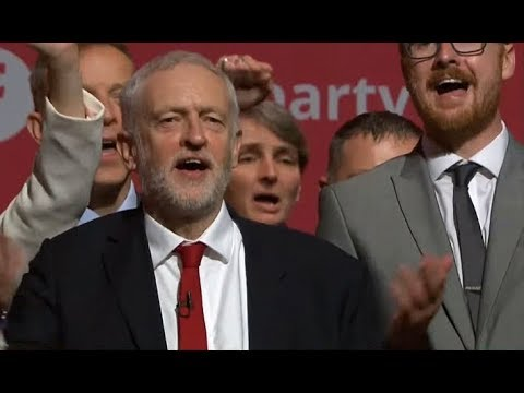 Jeremy Corbyn closes Labour conference 2017 singing Red Flag and Jerusalem