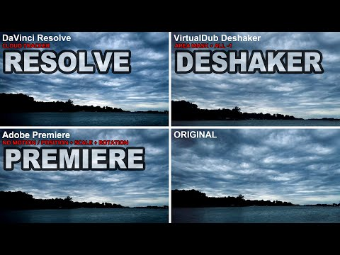 TOP 3 Video Stabilization Tools Comparison DaVinci Resolve / Adobe Premiere / VirtualDub Deshaker