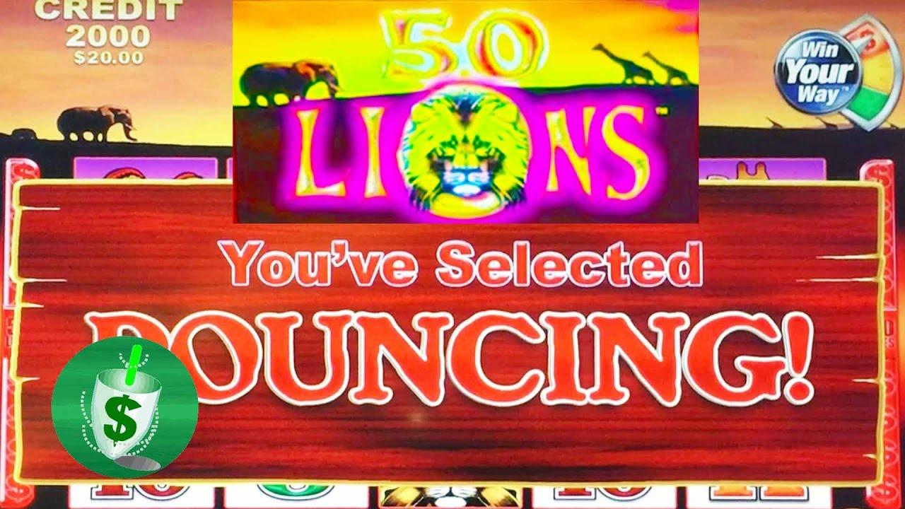 50 lions slot machine pouncing option youtube. Black Bedroom Furniture Sets. Home Design Ideas