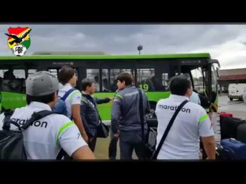 Imágenes de la llegada de la selección boliviana a Brasilia