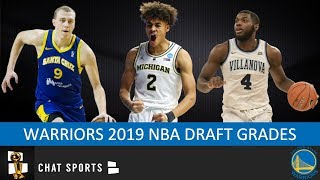 Warriors Draft Grades From The 2019 NBA Draft On Jordan Poole, Alen Smailagic & Eric Paschall