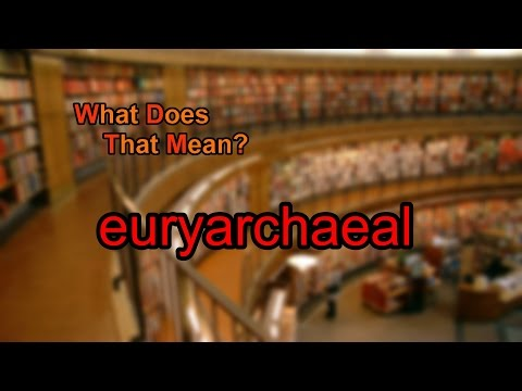 What does euryarchaeal mean?