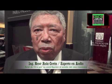 Ing. René Ruíz Ariel de Oro por su contribución al sonido del cine mexicano