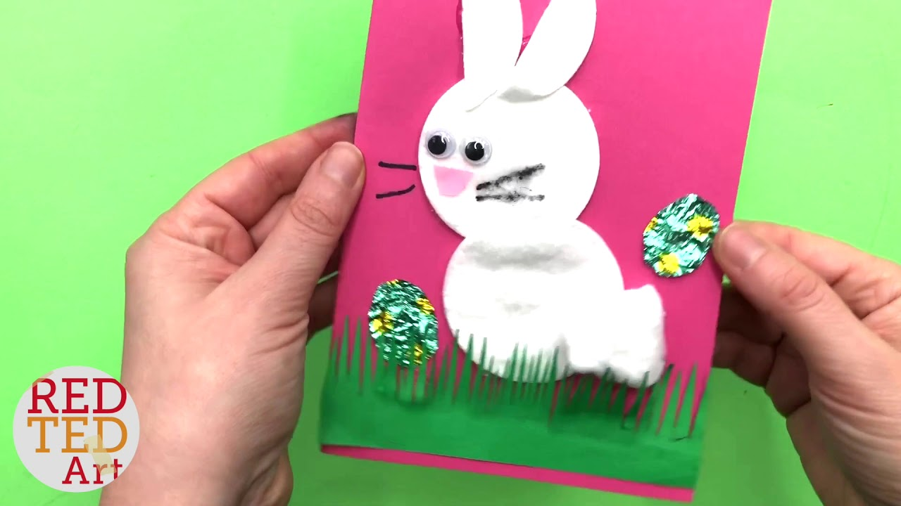 quick bunny card diy cotton wool pad bunny cards for easter