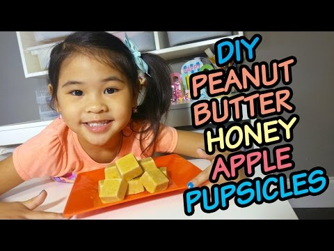 DIY Easy No Bake Dog Treats | Frozen Peanut Butter Apple Pupsicles Recipe | 4 Ingredient Dog Treats