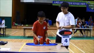 Doubles Sport Stacking World Record 6.281 (Jae Ho Jung & Si Woo Kim)