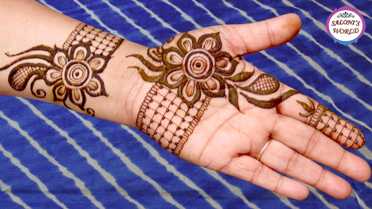 Simple Floral Henna Mehndi Designs Arabic Henna Henna Tattoo By