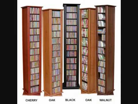 How to store your CD DVD s in one unit ? CD DVD STORAGE CABINET - YouTube