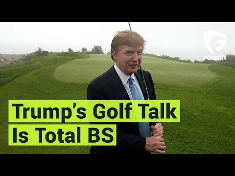 Donald 'I Won't Have Time to Play Golf' Trump, Oh Wait