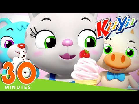 Ice Cream Song | Plus Lots More Nursery Rhymes | 30 Minutes Compilation from KiiYii!
