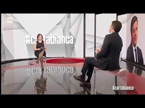 Matteo Renzi ospite a Carta Bianca su Rai 3 con Bianca Berlinguer
