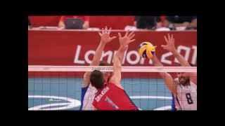 Olympic Games 2012 Volleyball in slow motion