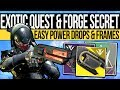 Destiny 2 | EXOTIC WEAPON QUEST & FORGE SECRETS! EASY Power, Weekly Frames, Dawning Exotics & Title!