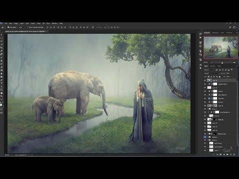 Elephant Keeper - Photoshop manipulation Tutorial Compositing