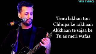 Dil Diyan Gallan (Lyrics)Song   Atif Aslam   Salman Khan   Romantic Song   Yhb Lyrics