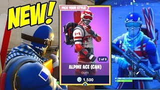 FORTNITE WINTER OLYMPICS! ALPINE ACE GAMEPLAY! [FRA, UK] (Fortnite Battle Royale) NEW SKINS!