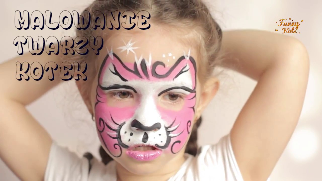 Malowanie Twarzy Kotek Kitty Face Painting Makeup For Kids Youtube