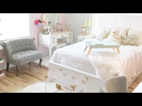Room Decor/Bedroom Tour: Office Space, Makeup Vanity, High Tea Area, Shoes/Purses Closet Display.