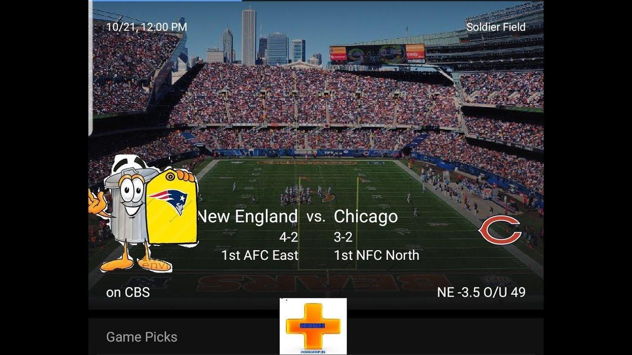 Week 7 Preview Patriots at Bears