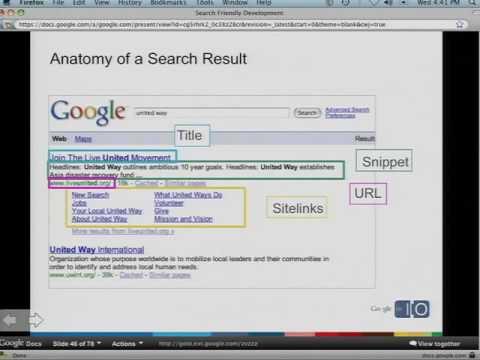 Google I/O 2009 - Search Friendly Development