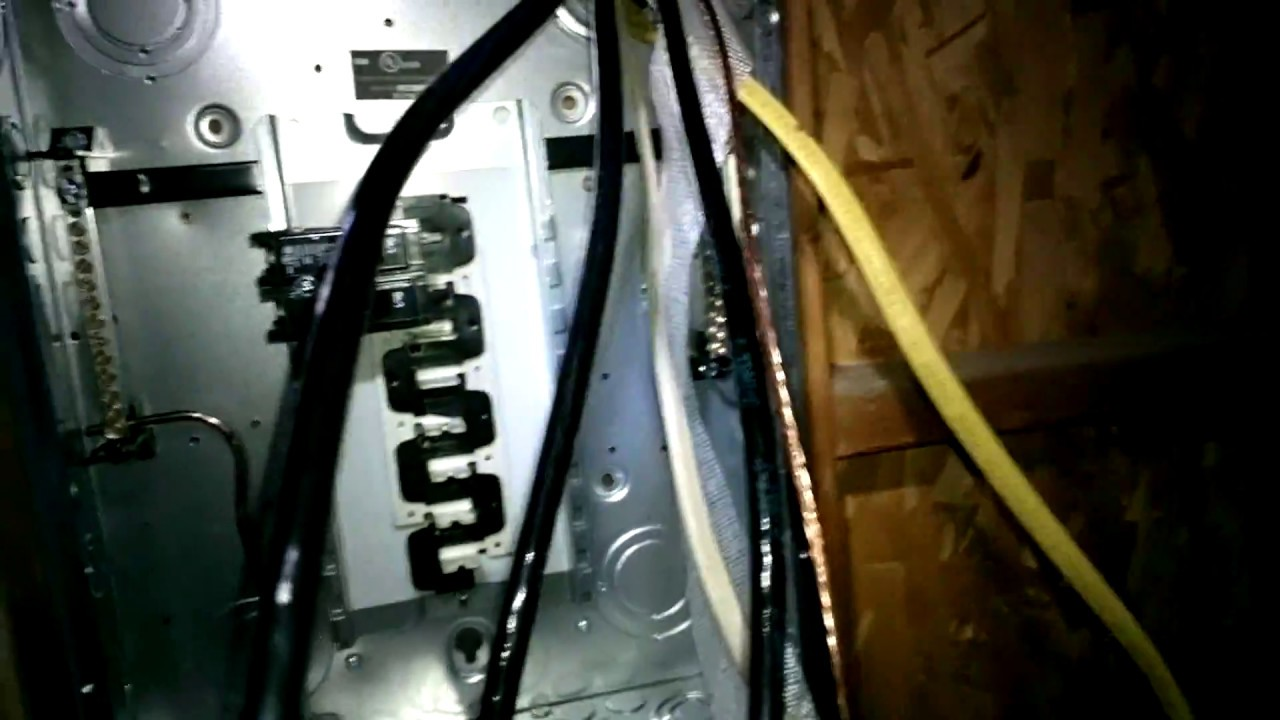 the odd job do er finishes the 100 amp sub panel to a garage  [ 1280 x 720 Pixel ]