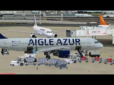flight from Paris to Alger A320 AIGLE AZUR(nouvel airport)