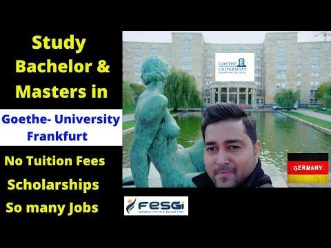 Goethe University Frankfurt -Study Bachelor & Master's Programs! Easy Admission, No Fees & Many Jobs