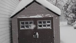 Rubbermaid 7x7 big max shed review in snow