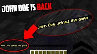 John Doe is going to HACK Minecraft Scary Minecraft Video