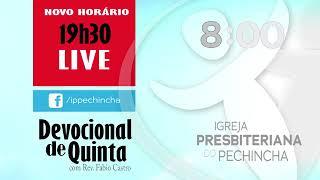 Devocional de Quinta -  29/10/2020 - Rev. Fábio Castro