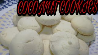 Coconut cookies (without oven) kadai me