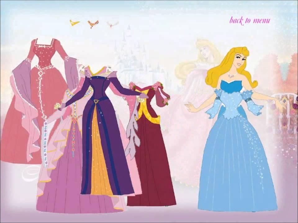Disney Princess Dress Up Game For Little Kids Youtube