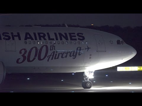 Turkish Airlines 300th Aircraft Livery Airbus A330-300 TC-LNC Landing at NRT 34R