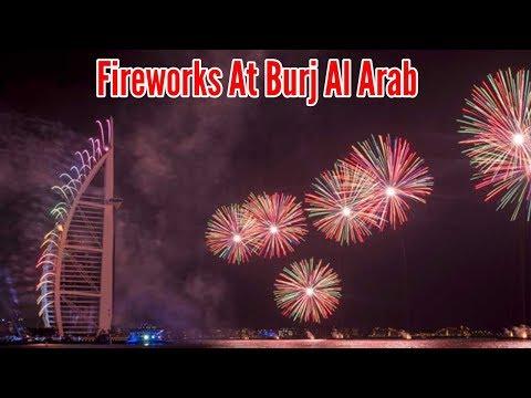 Fireworks at Jumeirah beach Dubai