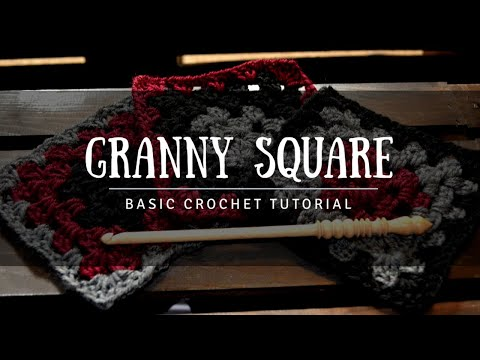 How To Crochet - Beginner Basic Traditional Granny Square Tutorial Free Pattern
