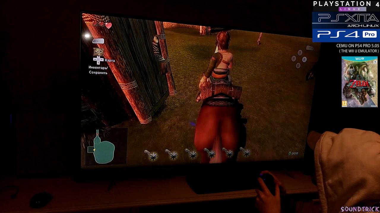 Zelda: Twilight Princess HD on PS4 PRO 5 05 | Psxitarch Linux v2 | CEMU +  OpenGL